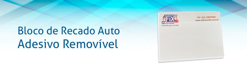 Bloco de Recado Auto Adesivo Removível Personalizado